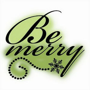 Carimbo de silicone Be Merry - Imaginisce
