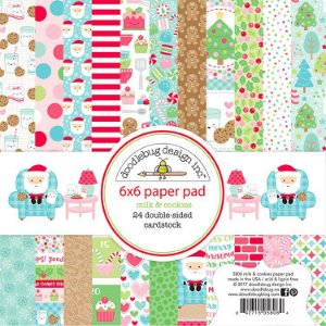 Bloco de papel para scrapbook Natal - Milk & Cookies - Doodlebug