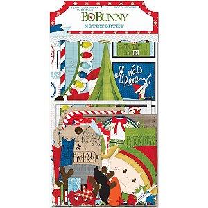 Die cuts Natal com 75 peças - Elf Magic - Bo Bunny