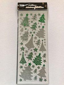 Adesivos Glitter Árvores de Natal - Toke e Crie