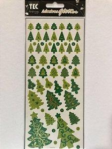 Adesivos Glitter Natal - Árvores - Toke e Crie