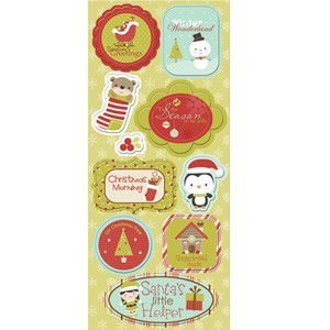 Adesivos chipboard Natal Christmas Wonderland - Imaginisce