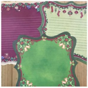 Kit com 3 folhas 30x30 Natal Estilizadas - Toke e Crie
