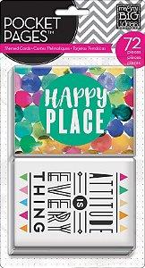 Cards tema Aquarela - Happy Place - 72 peças - MAMBI