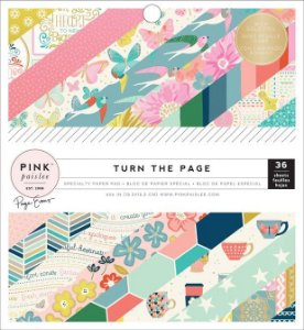 Bloco de papel para scrapbook 15x15 com FOIL Turn the Page - Pink Paislee