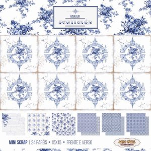 Bloco de papéis 15x15  Azulejo Português