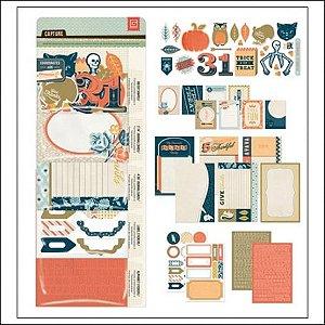 Kit acessórios Hallowenn adesivos, cards e die-cuts - Basic Grey