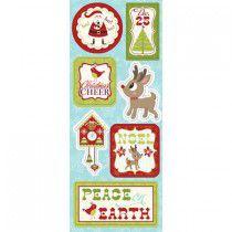 Adesivo em chipboard 15x30 - Natal Noel - Imaginesce