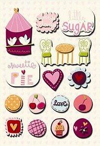 Adesivo 3D Sweet Cheri - Amor - Imaginesce