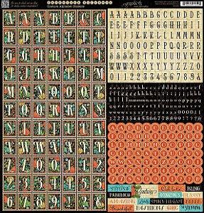 Adesivo 30x30 Couture Alpha Graphic 45