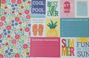 Kit 2 Papéis de scrapbook 30x30 Verão - Sunshiny Days - Pebbles