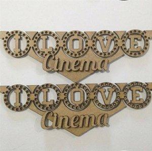 Apliques em MDF I Love Cinema - Arte Fácil