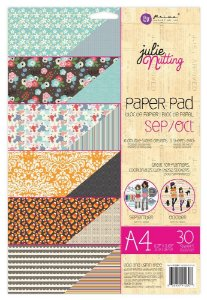 Bloco de papéis scrapbook A4 - Sep/Oct -  Julie Nutting - Prima