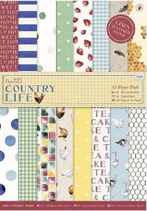 Bloco de papel texturizado 15x21 Country Life A5 - Docrafts