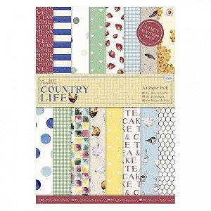 Bloco de papel texturizado 29x21 Country Life A4 - Docrafts