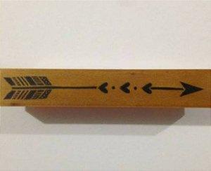 Carimbo de madeira Flecha Corações - Arte Fácil