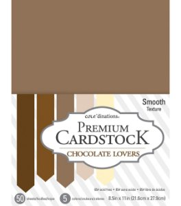 Bloco de papel cardstock A4 Chocolate Lovers- Core dinations