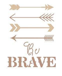 Stencil Be Brave - Arte Fácil
