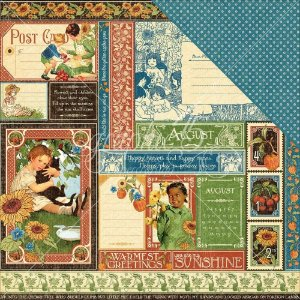 Papel Scrapbook 30x30 Dupla Face - August Collective - Children's Hour  - Graphic 45