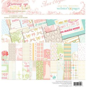 Kit de papéis 30x30 e cards Growing up girl - Allison Kreft - Webster