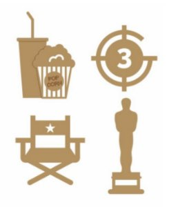 Apliques em MDF Cinema - Arte Fácil