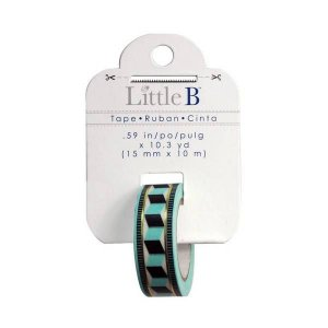 Washi tape - Little B -  Tribal - azul e preta