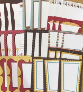 Cards Journaling com 24 peças - American Crafts