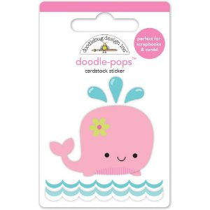Adesivo 3D Winnie Whale Doodlebug