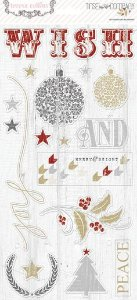 Adesivo em Chipboard 15x30 Tinsel And Company Teresa Collins