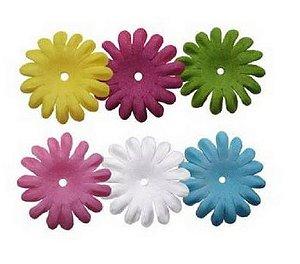 Flores de tecido 90 peças - Blooms -  Imaginisce