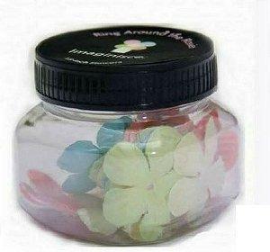 Pote de Flores de tecido 25 peças -  Imaginisce