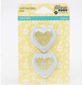 Acessórios de PVC coração para shaker cards - JIllibean