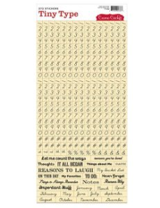 Adesivos Alfabeto mini - Palavras e números preta fundo bege - Cosmo Cricket