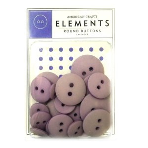 Botões  Lilás - Lanvender com 24 peças - American Crafts