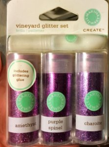 Potes de Glitter e cola Lilás - Vineyard - Martha Stewart