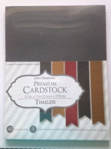 Bloco de papel cardstock A4 Neutros - TImeless - Core dinations