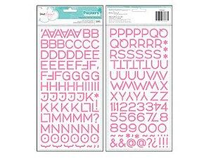 Adesivos thickers estilo enamel Rosa - Dear Lizzy - American Crafts