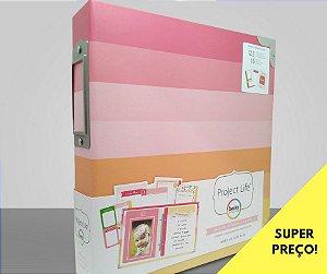 Álbum Kit 15x 20cm para Bebê Menina - Baby Girl - Project Life