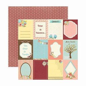 Papel Scrapbook - Minha Família - Cards - Toke e Crie