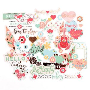 Die Cuts Be Happy com foil rosé - My Prima Planner - Prima