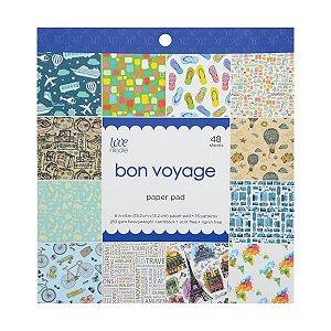 Bloco de papéis 15x15 Bon Voyage - Tema Viagem - Love Nicole