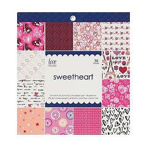 Bloco de papéis 15x15 Sweetheart - Amor - Love Nicole