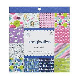 Bloco de papéis 15x15 Imagination - Fofo- Love Nicole