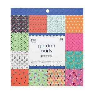 Bloco de papéis 15x15 Garden Party - Cores Vivas - Love Nicole