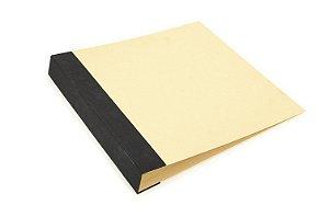 Álbum de scrapbook Scrap Momentos Preto- Vermelho e Kraft - Toke e Crie