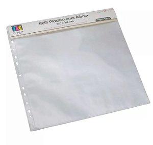 Kit de Refil plástico para álbum de scrapbook grande TEC - Liso - Toke e Crie