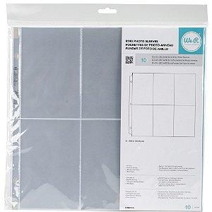 Refil plástico para álbum de scrapbook (compatível com Project Life) 6 divisórias - We R