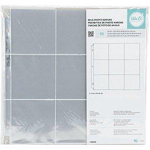 Refil plástico para álbum de scrapbook (compatível com Project Life) 9 divisórias - We R