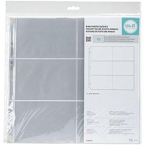 Refil plástico para álbum de scrapbook (compatível com Project Life) 6 divisórias Horizontal - We R