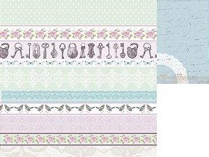 Papel Scrapbook 30x30 Dupla Face - True Romance - Affection - Amor - KaiserCraft
